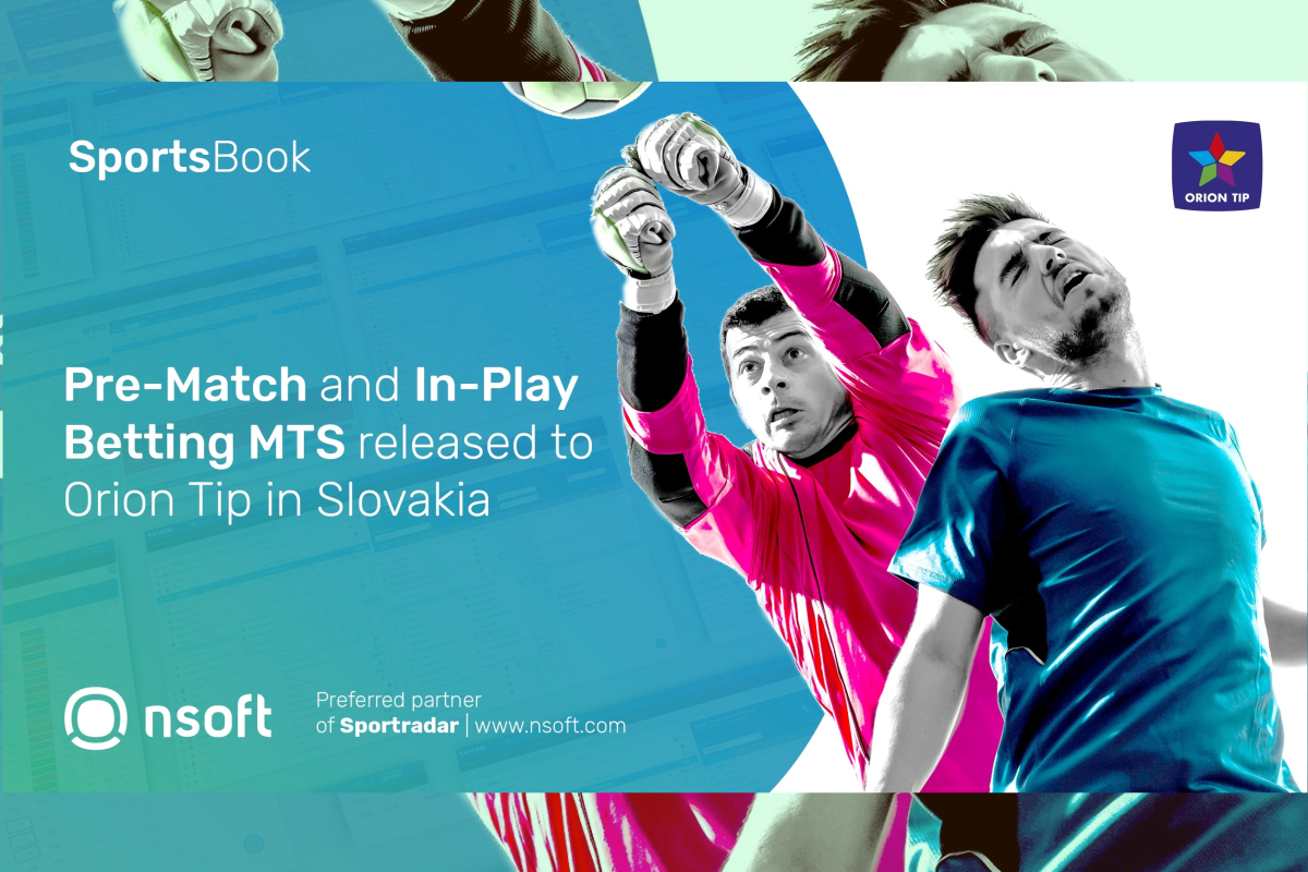 NSoft's Sportsbook released to Orion Tip retail network in Slovakia
