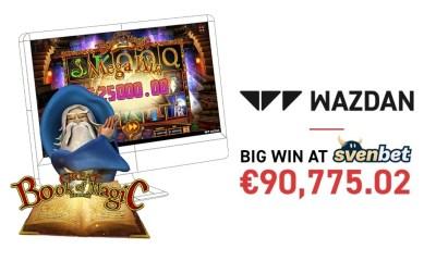 Big Win at Svenbet on Wazdan's Great Book of Magic Deluxe