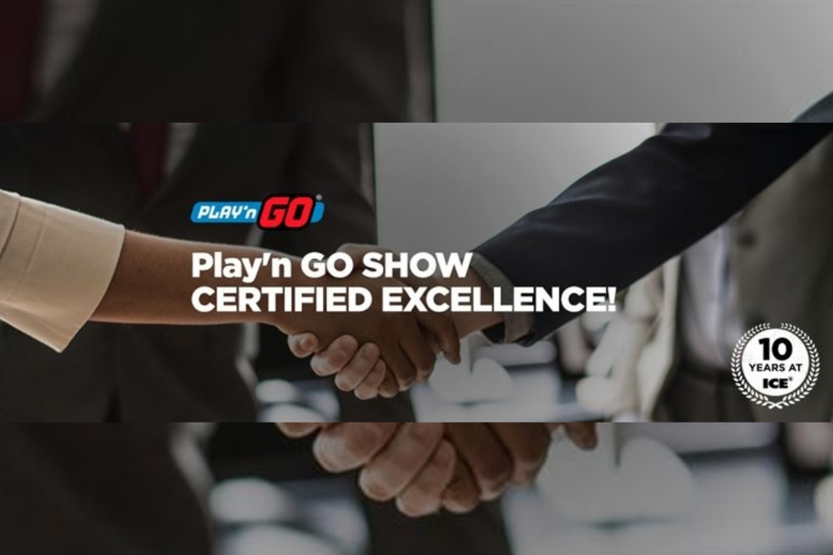 Play'n GO Show Certified Excellence!
