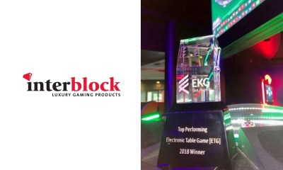 Interblock wins Top Performing Electronic Table Game at EKG awards