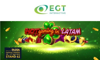 EGT Interactive to present even more gaming experience at FADJA, Colombia 2019