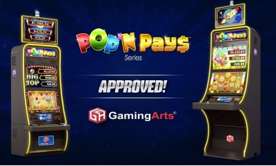 , Gaming Arts Celebrates Company Milestones with Approval of its Pop'N Pays™ Video Reels and Record Number of Cabinet Orders