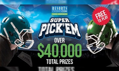 ResortsCasino.com Launches Pro Football Super Pick'Em Contest