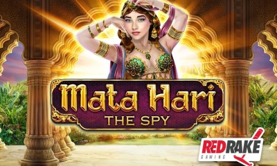 "Up to 144 free spins in the new video slot ""Mata Hari: The Spy"" from Red Rake Gaming"