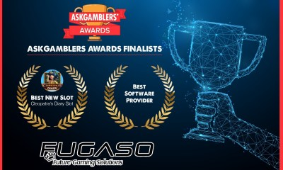 "Fugaso selected as finalists in two categories of ""the world's most prestigious casino awards"""