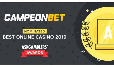 Campeón Gaming Partners' CampeonBet nominated in Best Online Casino category at the AskGamblers Awards 2020