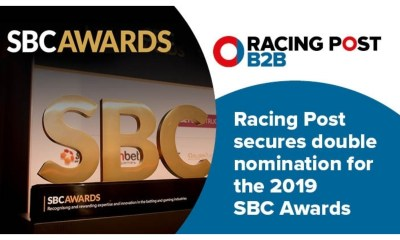 Racing Post secures double nomination for the 2019 SBC Awards
