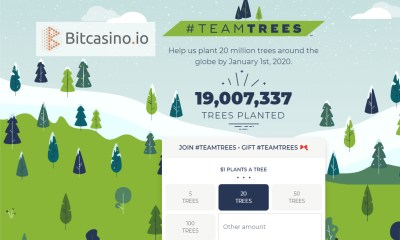 Bitcasino.io champions crypto-community in #teamtrees movement donating over $100k