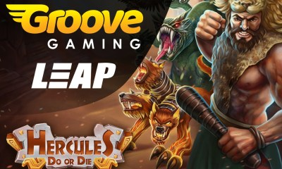 GrooveGaming leaps ahead with launch of Leap Gaming's first slots release 'Hercules Do or Die'