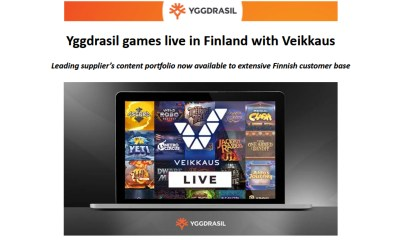 Yggdrasil games live in Finland with Veikkaus