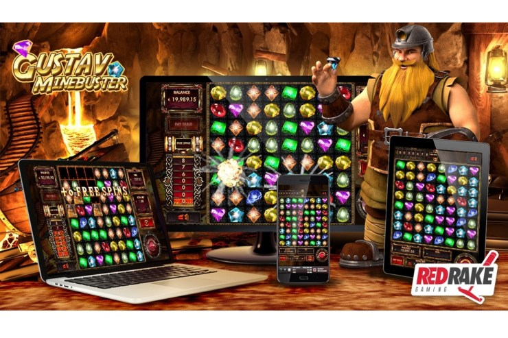 the new video slot from Red Rake Gaming: Gustav Minebuster