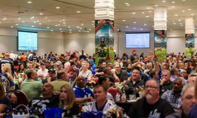 Buffet, open bar and satellite sports betting stations at the Plaza Hotel & Casino's Big Game Viewing Party, Feb. 2
