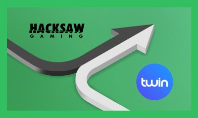 Hacksaw Gaming sign with Twin