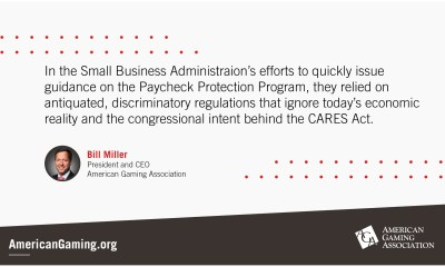 AGA CEO Statement on the SBA's Interim Guidelines for the Paycheck Protection Program