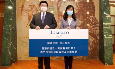 Melco Donates 500,000 Surgical Masks to Macau Government