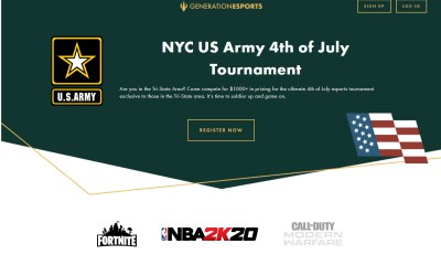 """Generation Esports and the United States Army Enlist New Yorkers for Epic Independence Day """"U.S. Army 4th of July Esports Tournament"""""""