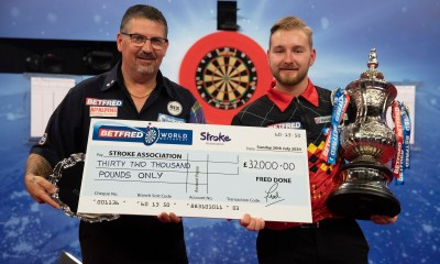 Betfred to donate £32,000 to Stroke Association after World Matchplay Record!