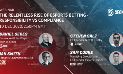 SEON teams up with leading experts for latest webinar: The relentless rise of esports betting - Responsibility vs Compliance
