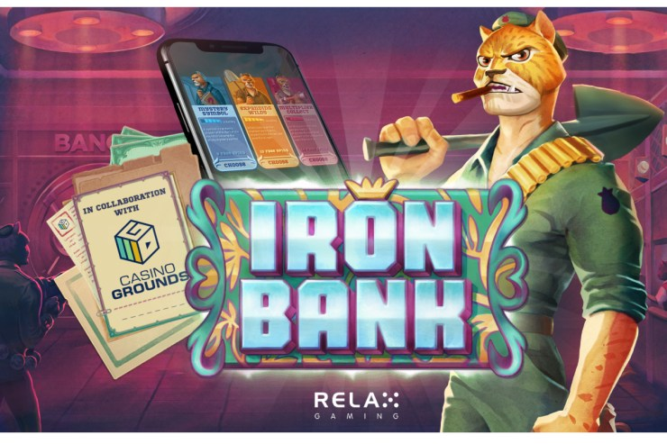 Relax Gaming dan CasinoGrounds merilis Iron Bank