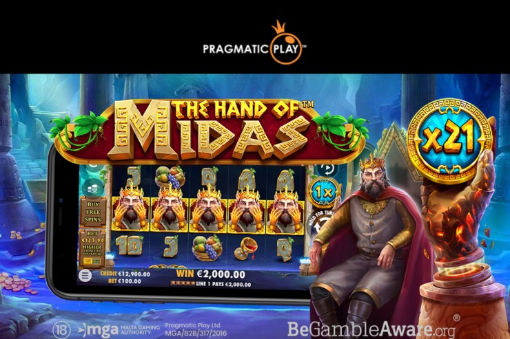 Pragmatic game embraces the golden touch in the hand of Midas
