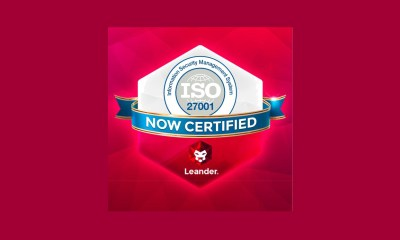 Leander awarded coveted ISO 27001:2013 Certification for ISMS
