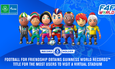 Football for Friendship achieves new GUINNESS WORLD RECORDSTM title for the most visitors at a virtual stadium