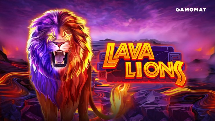 GAMOMAT releases rip-roaring Lava Lions slot