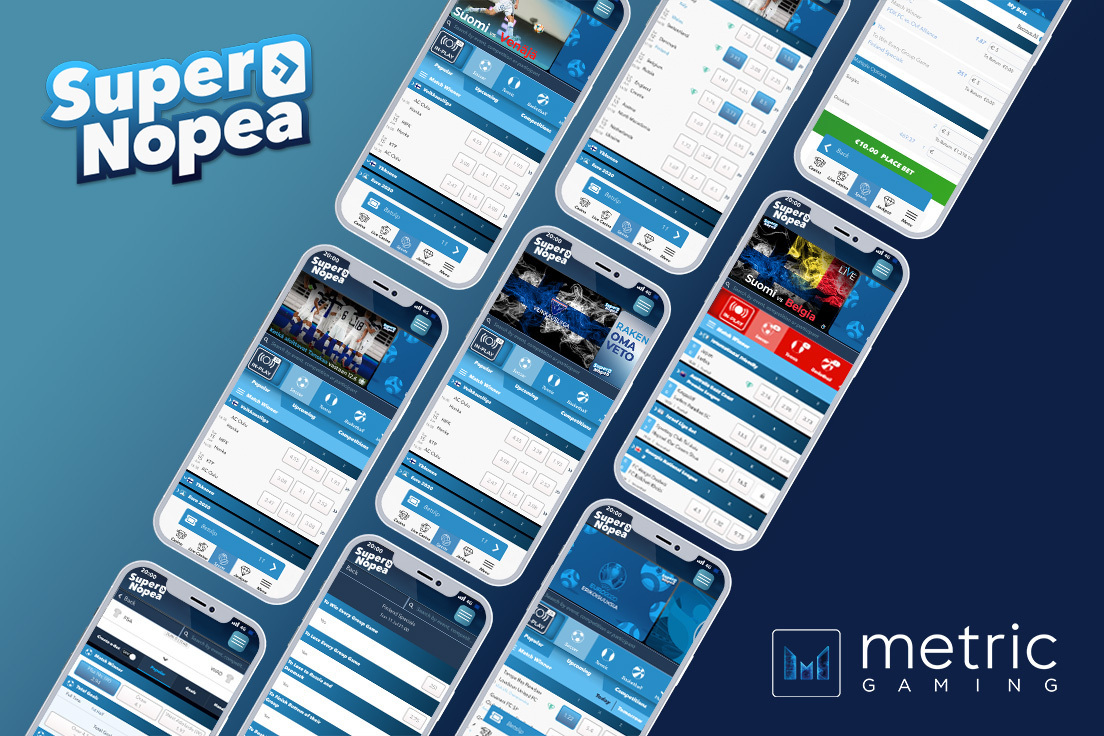 SuperNopea launches Metric Sportsbook for the start of European Championships