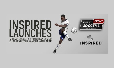 Inspired Launches V-Play Soccer 3.0, Matcheday 3.0 and European Tournament with OPAP