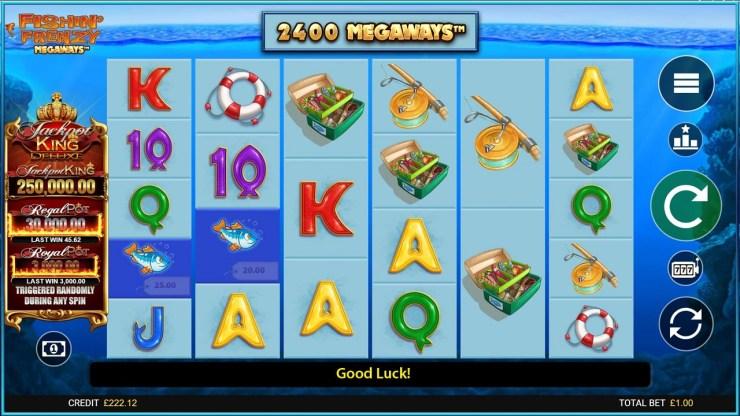 Le roi du jackpot de Blueprint prend une grosse prise avec l'entrée Fishin 'Frenzy Megaways ™