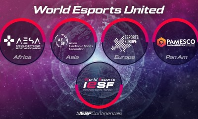 IESF CONTINUES TO UNITE THE WORLD OF ESPORTS WITH ACCEPTANCE OF THREE NEW CONTINENTAL FEDERATIONS