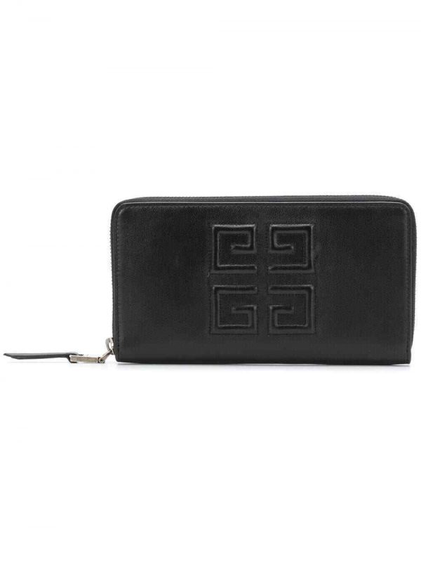 Givenchy BB6027B07Y 4G long leather wallet black