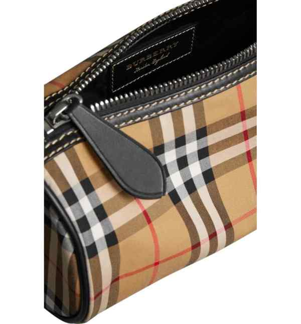 Burberry 4076635 kennedy vintage check canvas duffle bag yellow