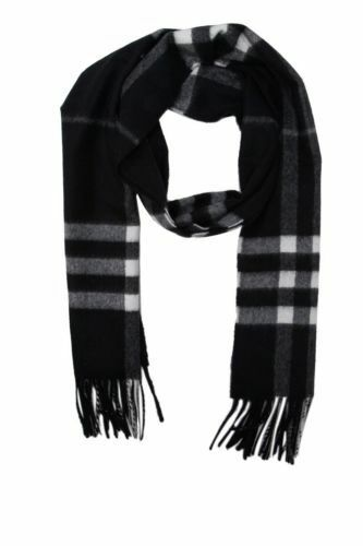 Burberry 4030500 classic checked cashmere scarf black