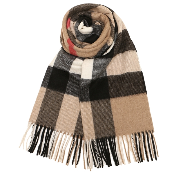 BURBERRY 4031079 LARGE CLASSIC CASHMERE SCARF CAMEL