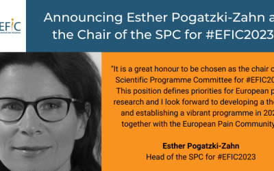 Announcing Esther Pogatzki-Zahn as Chair of the SPC for #EFIC2023
