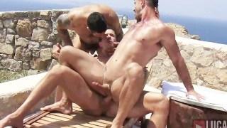 Muscle Straight Jocks Fuck on the Beach