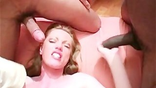 Black gangbang with UK pornobabe HollyKiss