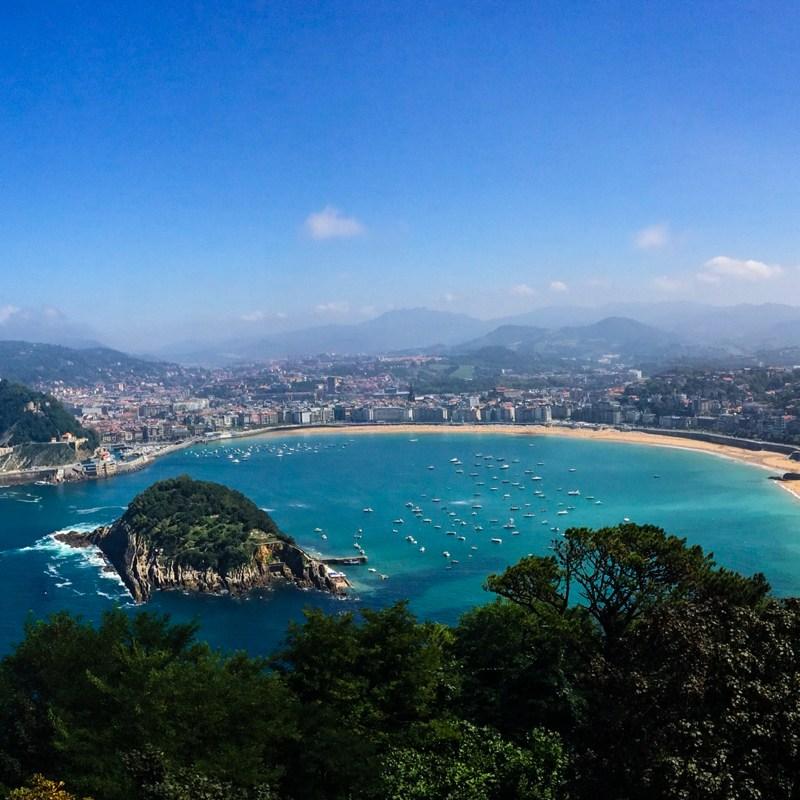 View of San Sebastián from Mount Igeldo