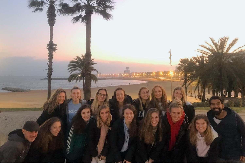 Barcelona at dusk
