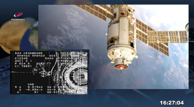 Air leak in Russia's space service module causes pressure drop