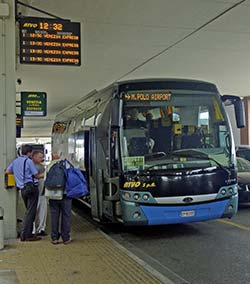ATVO bus at Venice Marco Polo Airport