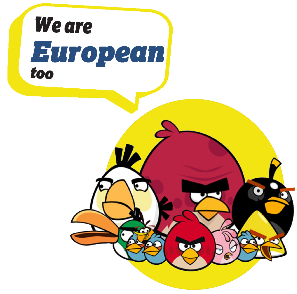 European Characters -European Characters -AngryBirds