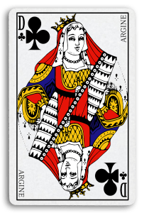 French-Suited Playing Cards - Trèfles - Clubs 2