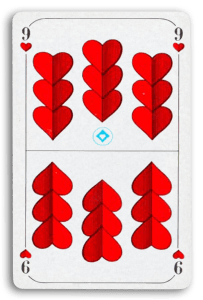 German-Suited Playing Cards - Herz - Hearts