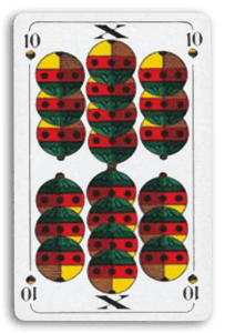 German-Suited Playing Cards - Schellen - Bells