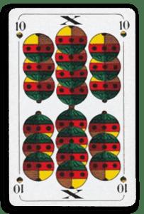 German-Suited Playing Cards - Schellen - Bells