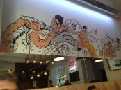 Artwork in the bar.