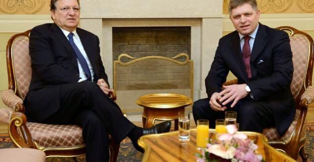 Róbert Fico a José Manuel Barroso.