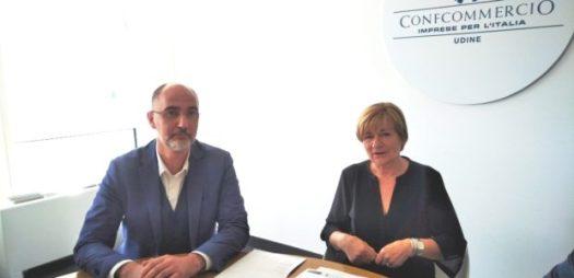 In foto Luca Penna dell'Unione regionale di Confcommercio Fvg e Paola Schneider, presidente di Federalberghi Fvg.